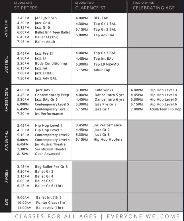 Timetable new 2019 1